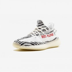 "Adidas Yeezy Boost 350 V2 ""Zebra"" CP9654 Black White/Cblack/Red Casual Shoes"