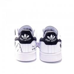 Adidas Originals Stan Smith White Black Unisex Leather Sneakers FW2895