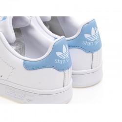 Adidas Originals Stan Smith Womens White Blue Sneakers BA7673