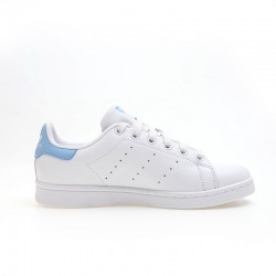 Adidas Originals Stan Smith Womens White Blue Sneakers BA7673