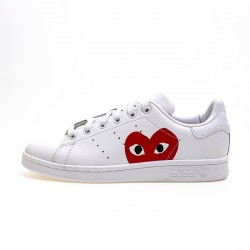 Adidas Originals Stan Smith White Red Womens Sneakers S75104
