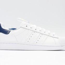 Superstar 50 Adidas 2020 White Orange Deep Blue Unisex Casual Shoes FW2852