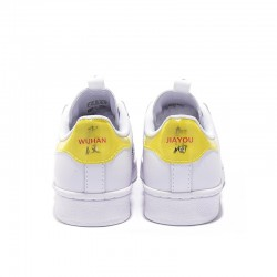 Superstar 50 Adidas 2020 White Yellow Black Unisex Casual Shoes FW2856
