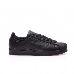 Adidas Superstar All Black Unisex Casual Shoes AF5666
