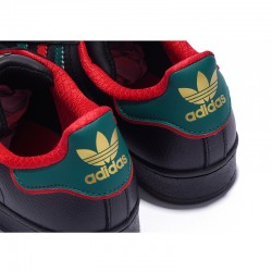 Adidas Superstar Black Unisex Red Blue Casual Shoes D96975