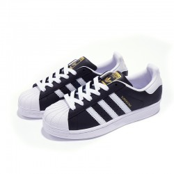 Adidas Superstar Black White Gold Unisex Casual Shoes B27138
