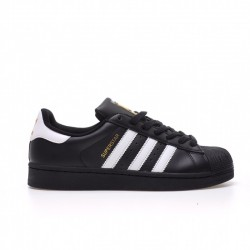 Adidas Superstar Black White Gold Unisex Casual Shoes B27140