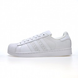 Adidas Superstar All White Red Unisex Casual Shoes B27136