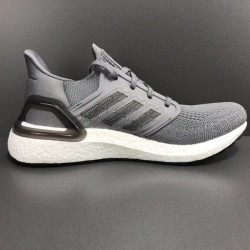 Adidas Ultra Boost 20 All Gray Mens Running Shoes EG0705