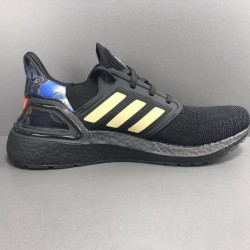 Adidas Ultra Boost 20 Black Gold Unisex Running Shoes FW4322