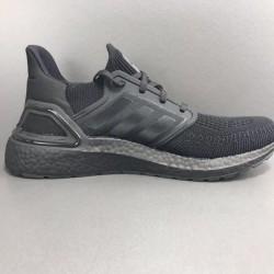 Adidas Ultra Boost 20 Black Gray Mens Running Shoes EG0691