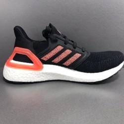 Adidas Ultra Boost 20 Black Orange Womens Running Shoes EF0717