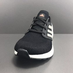 Adidas Ultra Boost 20 Black Silver White Mens Running Shoes EG0756