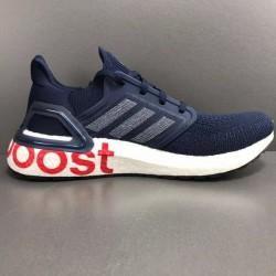 Adidas Ultra Boost 20 Deep Blue Unisex Running Shoes EG0706