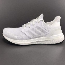 Adidas Ultra Boost 20 All White Unisex Running Shoes EF1042