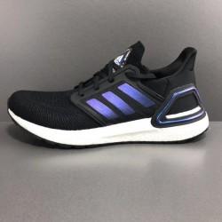Adidas Ultra Boost 20 Black Blue Unisex Running Shoes EG0692