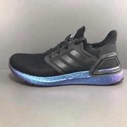 Adidas Ultra Boost 20 Black Blue Unisex Running Shoes EG1341