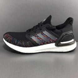 Adidas Ultra Boost 20 Black Gray White Mens Running Shoes EG0711