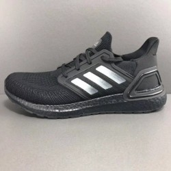 Adidas Ultra Boost 20 Black Silver Unisex Running Shoes EF0702