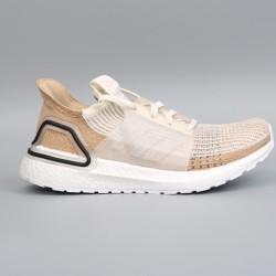 Womens Adidas Ultra Boost 19 Brown Beige Running Shoes B75878