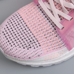 Womens Adidas Ultra Boost 19 Pink White Gray Running Shoes F35283