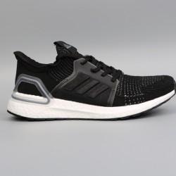 Womens Mens Adidas Ultra Boost 19 All Black Running Shoes G54014