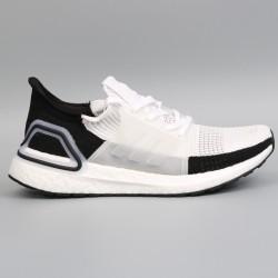 Womens Mens Adidas Ultra Boost 19 Black White Gray Running Shoes B37707