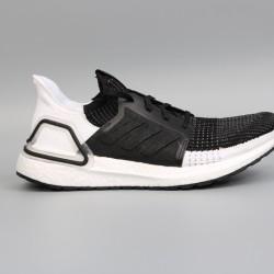Womens Mens Adidas Ultra Boost 19 Black White Running Shoes B37704
