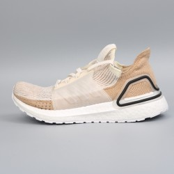 Womens Adidas Ultra Boost 19 Brown Beige Running Shoes B75878