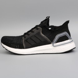 Womens Mens Adidas Ultra Boost 19 All Black Running Shoes G54014