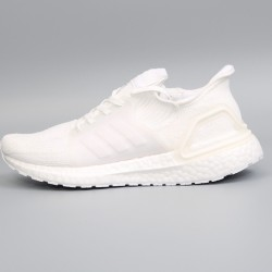 Womens Mens Adidas Ultra Boost 19 All White Running Shoes B37701