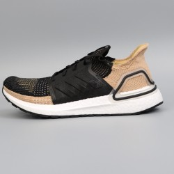 Womens Mens Adidas Ultra Boost 19 Black Brown Running Shoes F35241