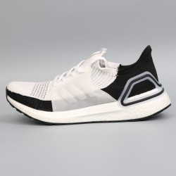 Womens Mens Adidas Ultra Boost 19 Black White Gray Running Shoes B37707