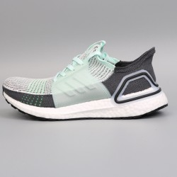 Womens Mens Adidas Ultra Boost 19 Green Black Running Shoes F35244