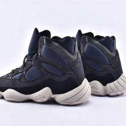 Adidas Yeezy 500 High Slate Unisex Black Blue Running Shoes FW4968