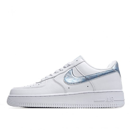 Nike Air Force 1 07 Low Trainers in White Blue 314219-131 Sneakers