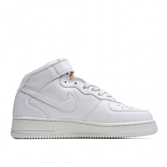 Nike Air Force 1 07 Mid LX White Onyx Bling LF CZ8101-100 Sneakers