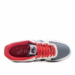 Nike Air Force 1 07 White Red Grey DT3427-900 Sneakers