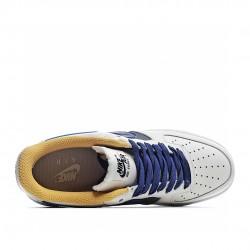 Nike Air Force 1 Low 07 Blue Grey Yellow CK7214-101 Sneakers