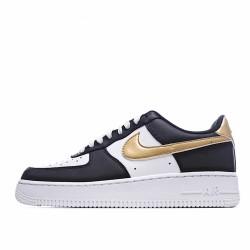 Nike Air Force 1 Low Black White Metallic Gold CZ9189 001 Sneakers