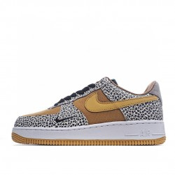 Nike Air Force 1 Low Brown Black Green CD2563-002 Sneakers