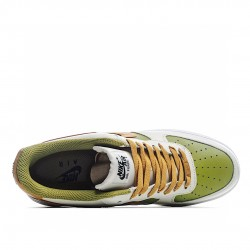 Nike Air Force 1 Low Green Yellow Beige DC1403-100 Sneakers