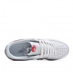 Nike Air Force 1 Low Grey Red White CJ1681-101 Sneakers