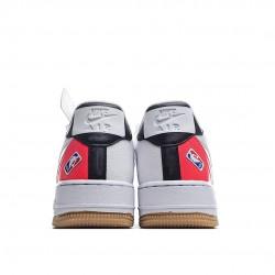 Nike Air Force 1 Low NBA White Crimson Gum CT2298-101 Sneakers
