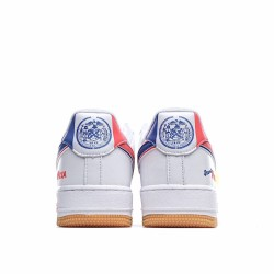 Nike Air Force 1 Low Scarr S Pizza White Blue CN3244-100 Sneakers