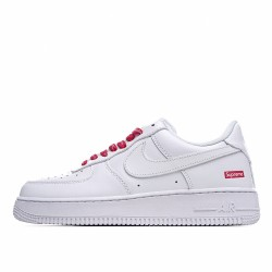Nike Air Force 1 Low Supreme White Red CU9225-100 Sneakers