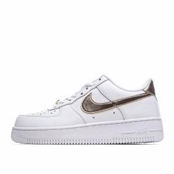 Nike Air Force 1 Low White Metallic Gold DC2181-100 Sneakers