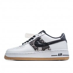 Nike Air Force 1 Low White Ripstop Camo Black Gum AZ7891-100 Sneakers