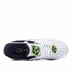 Nike Air Force 1 Low Worldwide White Barely Volt CN8536-100 Sneakers