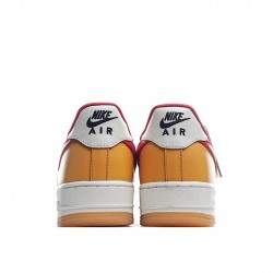 Nike Air Force 1 Low Yellow Red Beige DC1403-001 Sneakers
